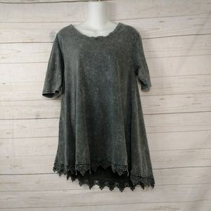 UMGEE Asymmetrical Mineral Tunic Top Size Small